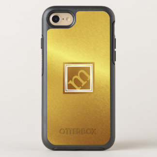 Coque OtterBox Symmetry iPhone 8/7 Or balayé par luxe avec le monogramme à angles
