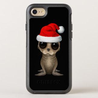 Coque OtterBox Symmetry iPhone 8/7 Otarie de bébé utilisant un casquette de Père Noël