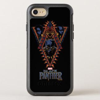 Coque OtterBox Symmetry iPhone 8/7 Panneau de tribal de guerriers de la panthère