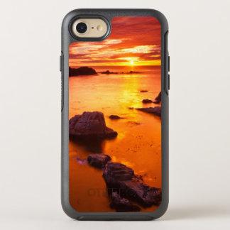 Coque OtterBox Symmetry iPhone 8/7 Paysage marin orange, coucher du soleil, la