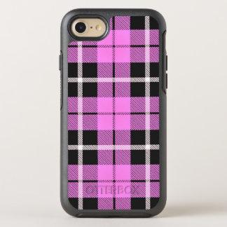 Coque OtterBox Symmetry iPhone 8/7 Rayure blanche de bébé/noire rose-clair