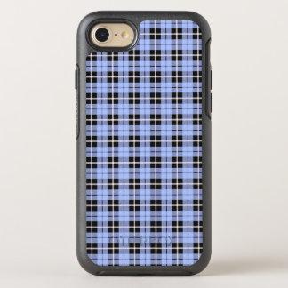 Coque OtterBox Symmetry iPhone 8/7 Rayure blanche de ciel de bébé/noire bleu-clair