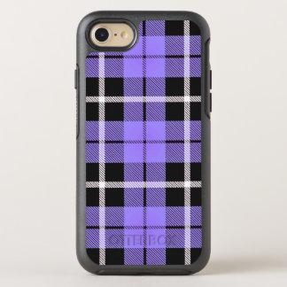 Coque OtterBox Symmetry iPhone 8/7 rayure blanche de ciel de lavande/noire bleu-clair