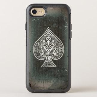 Coque OtterBox Symmetry iPhone 8/7 Rétro as de pique artistique de tisonnier de