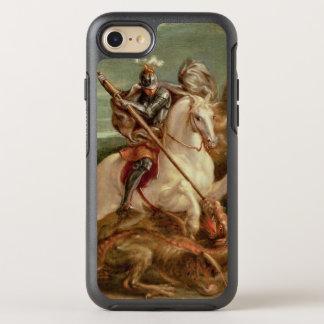 Coque OtterBox Symmetry iPhone 8/7 St George massacrant le dragon, (huile sur le