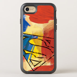 Coque OtterBox Symmetry iPhone 8/7 Superman a peint le logo