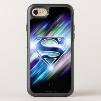 Coque OtterBox Symmetry iPhone 8/7 Superman a stylisé le logo brillant d'éclat de