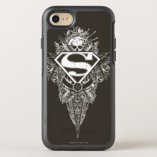 Coque OtterBox Symmetry iPhone 8/7 Superman a stylisé le logo d'étoile et de crâne de
