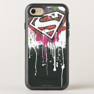 Coque OtterBox Symmetry iPhone 8/7 Superman a stylisé le logo d'innocence tordu par |