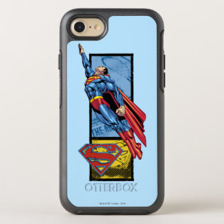 Coque OtterBox Symmetry iPhone 8/7 Superman saute avec le logo