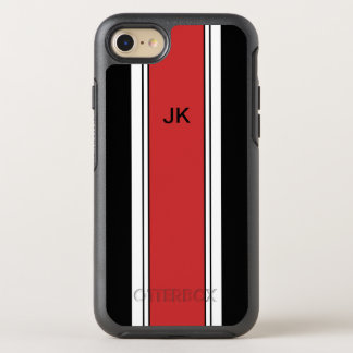 Coque OtterBox Symmetry iPhone 8/7 Thème de emballage du monogramme des hommes