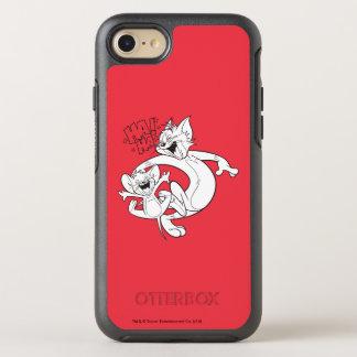 Coque OtterBox Symmetry iPhone 8/7 Tom et Jerry | Tom et rire de Jerry