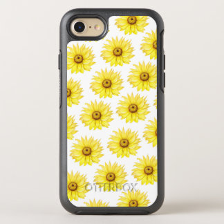 Coque OtterBox Symmetry iPhone 8/7 Tournesol sur le blanc