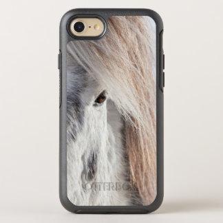 Coque OtterBox Symmetry iPhone 8/7 Visage islandais blanc de cheval, Islande