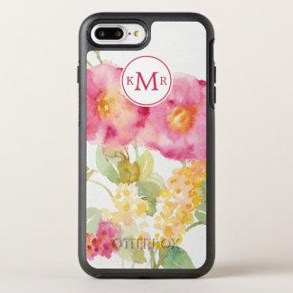 Coque OtterBox Symmetry iPhone 8 Plus/7 Plus Ajoutez votre marguerite blanche du monogramme  