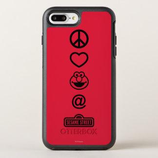 Coque OtterBox Symmetry iPhone 8 Plus/7 Plus Amour Elmo de paix
