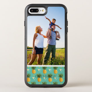 Coque OtterBox Symmetry iPhone 8 Plus/7 Plus Ananas de photo sur le motif géométrique