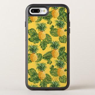 Coque OtterBox Symmetry iPhone 8 Plus/7 Plus Ananas et feuille tropical sur l'or