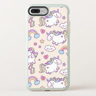 Coque OtterBox Symmetry iPhone 8 Plus/7 Plus Arcs-en-ciel et caisse mignons et colorés de