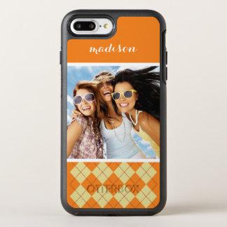 Coque OtterBox Symmetry iPhone 8 Plus/7 Plus Arrière - plan de photo et de chandail de nom