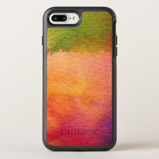 Coque OtterBox Symmetry iPhone 8 Plus/7 Plus Arrière - plan peint par aquarelle abstraite
