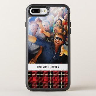 Coque OtterBox Symmetry iPhone 8 Plus/7 Plus Arrière - plan rouge de plaid de photo et de