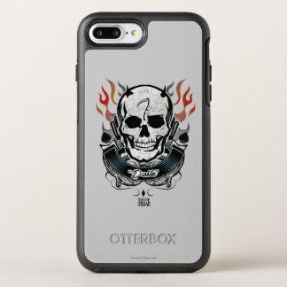Coque OtterBox Symmetry iPhone 8 Plus/7 Plus Art de tatouage de crâne et de flammes du peloton
