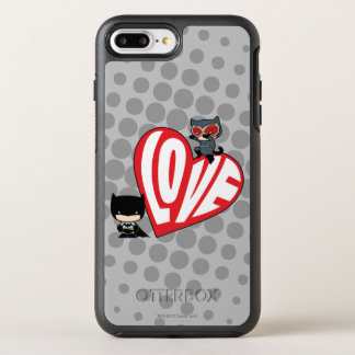 Coque OtterBox Symmetry iPhone 8 Plus/7 Plus Attaque de Catwoman de Chibi sur Batman
