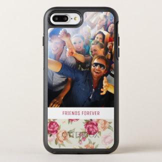 Coque OtterBox Symmetry iPhone 8 Plus/7 Plus Beau motif de pivoine de photo et de textes