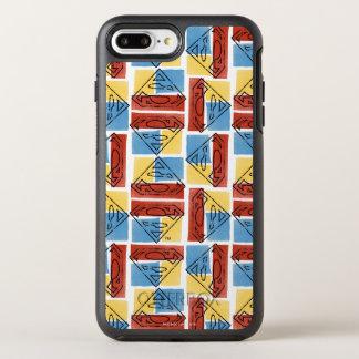Coque OtterBox Symmetry iPhone 8 Plus/7 Plus Bouclier de Superman avec des couleurs