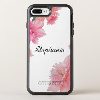 Coque OtterBox Symmetry iPhone 8 Plus/7 Plus Caisse florale personnalisée de téléphone de