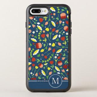 Coque OtterBox Symmetry iPhone 8 Plus/7 Plus Cas Ditzy floral lunatique de téléphone du