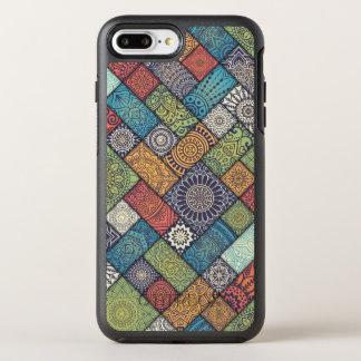Coque OtterBox Symmetry iPhone 8 Plus/7 Plus Cas floral diagonal élégant de téléphone des