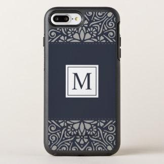 Coque OtterBox Symmetry iPhone 8 Plus/7 Plus Cas floral élégant de téléphone du monogramme | de