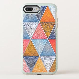 Coque OtterBox Symmetry iPhone 8 Plus/7 Plus Cas géométrique abstrait élégant de téléphone des