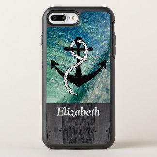 Coque OtterBox Symmetry iPhone 8 Plus/7 Plus Cas nautique rustique de téléphone d'été d'océan