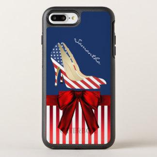 Coque OtterBox Symmetry iPhone 8 Plus/7 Plus Cas plus de l'iPhone 7 patriotiques de stylets