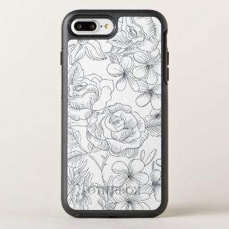 Coque OtterBox Symmetry iPhone 8 Plus/7 Plus Cas tiré par la main élégant de téléphone de la