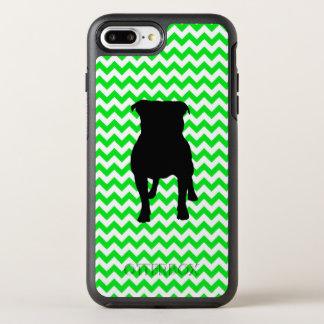 Coque OtterBox Symmetry iPhone 8 Plus/7 Plus Chevron vert irlandais avec la silhouette de