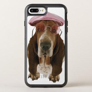 Coque OtterBox Symmetry iPhone 8 Plus/7 Plus Chien de basset dans les lunettes de soleil et le