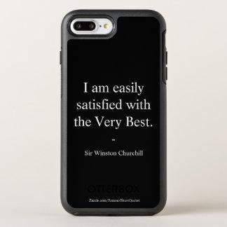 Coque OtterBox Symmetry iPhone 8 Plus/7 Plus Citation de Winston Churchill ; le meilleur