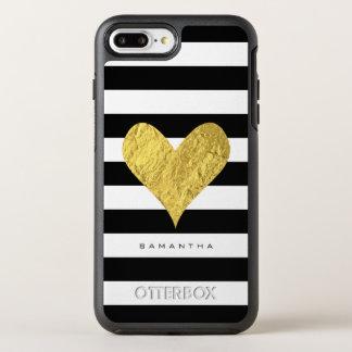 Coque OtterBox Symmetry iPhone 8 Plus/7 Plus Coeur de feuille d'or