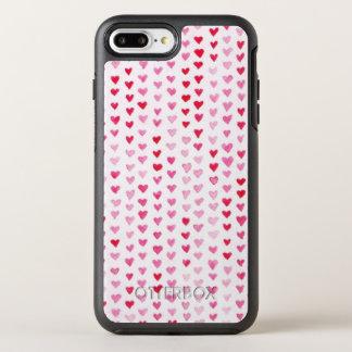 Coque OtterBox Symmetry iPhone 8 Plus/7 Plus Coeurs d'aquarelle