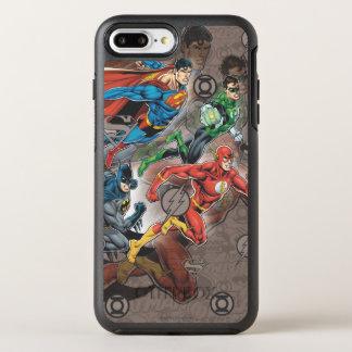 Coque OtterBox Symmetry iPhone 8 Plus/7 Plus Collage de ligue de justice