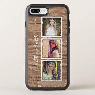 Coque OtterBox Symmetry iPhone 8 Plus/7 Plus Collage en bois rustique de photo d'Instagram de