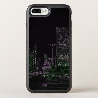 Coque OtterBox Symmetry iPhone 8 Plus/7 Plus Coloré au néon de la nuit 1967 d'avenue de Chicago