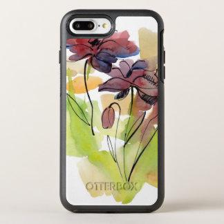 Coque OtterBox Symmetry iPhone 8 Plus/7 Plus Conception florale d'été avec le résumé peint à la