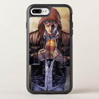 Coque OtterBox Symmetry iPhone 8 Plus/7 Plus Couverture de la terre de Superman - couleur