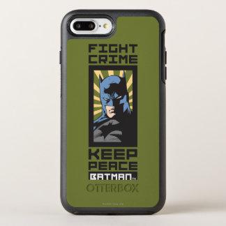 Coque OtterBox Symmetry iPhone 8 Plus/7 Plus Crime de combat - gardez la paix - Batman