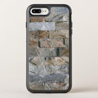Coque OtterBox Symmetry iPhone 8 Plus/7 Plus Dalles grises empilées de pierre de granit